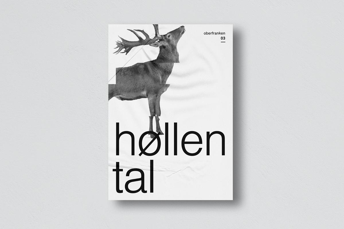 """Plakat mit der Auschrift """"Oberfranken 03: Höllental"""", das einen Hirsch zeigt"""